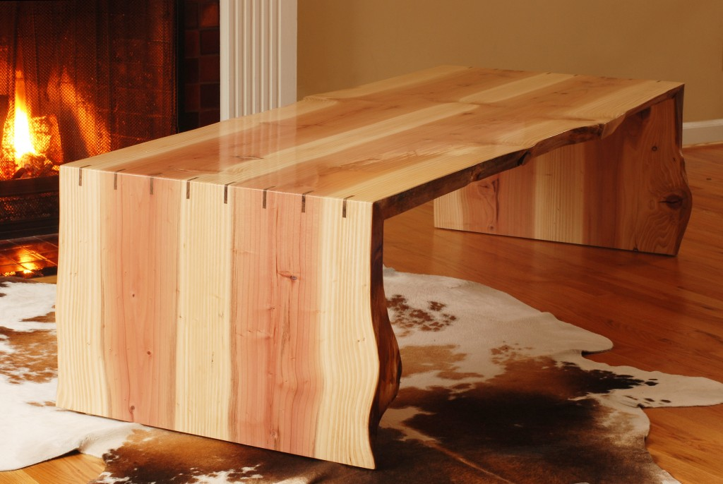 Live Edge Redwood Table Frison Logue Hardwoods