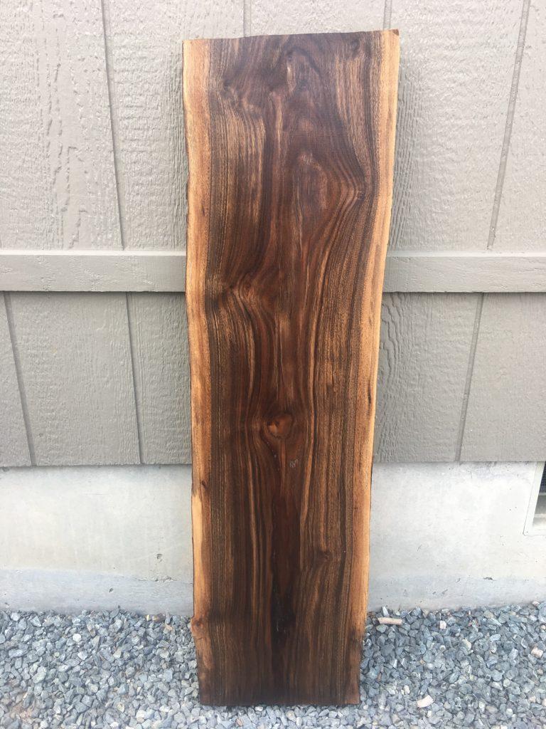 Large Live Edge Walnut Wood Slab Frison Logue Hardwoods